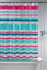 Peva stripe shower curtain