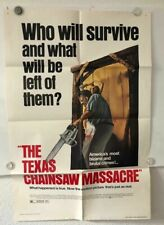 THE TEXAS CHAINSAW MASSACRE  ORIGINAL MOVIE POSTER
