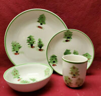 GIBSON China - MAGICAL FOREST Pattern (tree) - 4-piece PLACE SETTING