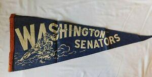 Rare Early WASHINTON SENATORS  Pennant Flag - Baseball