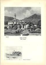 Stampa antica ROTA VALLE IMAGNA e ALMENNO Bergamo Grossi 1936 Old antique print