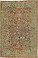 Antique T a b r i z Red, Orange, Blue and Green Carpet BB1036