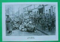 UM10) In St. Quentin Frankreich Soldaten Stahlhelm Ausrüstung 1914-1918 1.WK WWI