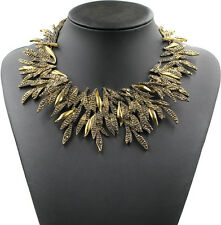ZARA ELEGANT GOLD SPIKES COLLAR NECKLACE - NEW