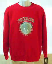 Adult Lg Red Sweatshirt Big Cotton Gear for Sports Veterans Honor Those Serve