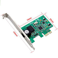 PCI-E Express 1000M RJ-45 Gigabit Ethernet LAN Rete Scheda Controller LW UK