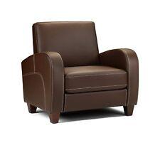 Julian Bowen Vivo Chair Comfortable Armchair in Chestnut Brown Faux Leather