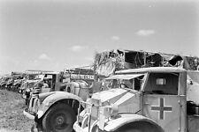WW2 Photo WWII Captured Axis Trucks & Equipment  Tunisia 1943 Wehrmacht  / 4152