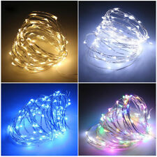 2M/4M/5M Mini LED Battery Powered Fairy String Lights Bendable Bottle Jar Flower