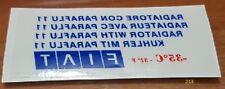 Fiat Uno Turbo ie adesivi stickers fiat parabrezza mk1