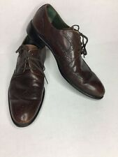Mens KENNETH COLE Brown Leather Wing Tip Dress Shoes Vera Gomma Sz 9 M