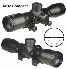 4X32 Compact Rangefinder Scope With Rings