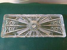 Servierplatte aus geschliffenem Bleikristall 35 x 13,5 cm