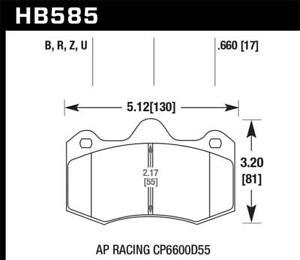 Hawk HPS Brake Pads HB585B.660 for 12-14 McLaren MP4-12C 5.0 Front