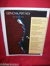 PAOLO CONTE Genova per noi 1975 Spartito Pop Art Cover Music Sheet