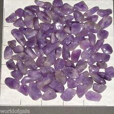 "AMETHYST Lavender xsm to long med. tumbled 1/2 lb bulk stones quartz 1/2-1 1/4"""