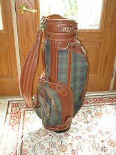 DAIWA GOLF CLUB BAG for CART - COACH COLLECTION - LEATHER with PLAID CANVAS