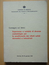1976-SMALTIMENTO DEI RIFIUTI SOLIDI-COMUNE DI GENOVA-CONVEGNO+