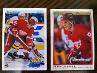 SERGEI FEDOROV - (2) Rookie Cards - Lot OPC Premier Upper Deck Young Guns RC 💲