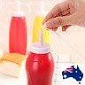 6x Plastic Clear 8/16oz Squeeze Bottle Condiment Dispenser Ketchup Mustard Sauce