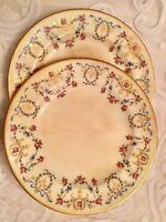 Wright Tyndale & Van Roden London Plates 24K Gilt Floral RIbbon , Philadelphia