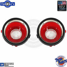 71-73 Camaro Back Up Reverse Tail Light Lamp Lens (with RS Trim) USA Made PAIR