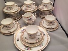 Vintage Pretty Royal Grafton 'Floral Spring' 30 Piece Tea Set Plus Cake Plate