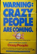 Crazy people movie poster,1990,original,Paramount Pictures.