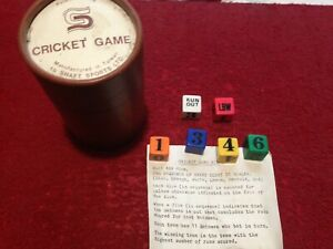 Vintage Dice Cricket Game By Shaft Sports Ltd