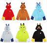 Pokemon Pikachu Umbreon Hoodie Sweatshirt Unisex Thicken Coat Cosplay Costume