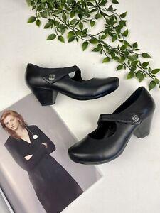 Dansko Leather Mary Janes Black Heels. Size 38
