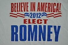 t-shirt medium mitt romney 2012 election believe in american 20 inches pit2pit