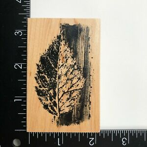 Club Scrap Leaf Wood Mounted Rubber Stamp Limited Edition