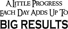 Big Results ~ Motivational & Inspirational Quote Vinyl Wall Decal 12x22