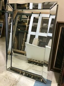 Vintage Silver, Large Wall Mirror