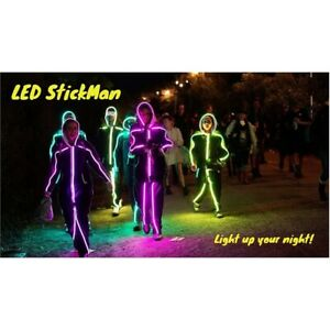 LED STICKMAN kit Costume Fancy Dress Christmas Halloween Party **PROMOTION**