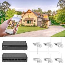 8Port 6+2 PoE Switch Injector Power Over Ethernet without Power Adapter Network