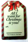 Victoria's Secret ALL I WANT FOR CHRISMAS IS YOU DIE CUT Collectible Gift Card  For Sale