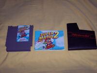 Super Mario Bros 2 NES Original Nintendo With Manual Cleaned Tested Guaranteed
