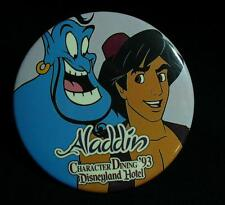 Disneyland Hotel Aladdin & Genie Character Dining 1993 Button