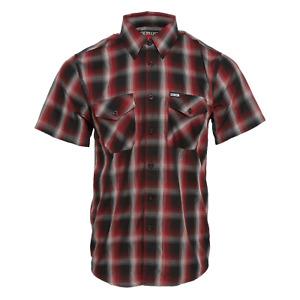 Dixxon Flannel Bamboo Short Sleeve The Uppercut Mens Large L LIMITED Shirt