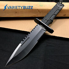 "12"" TACTICAL SURVIVAL Rambo Full Tang FIXED BLADE KNIFE Hunting w/ SHEATH"