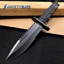 "12"" TACTICAL SURVIVAL Rambo Full Tang FIXED BLADE KNIFE Hunting w/ SHEATH"