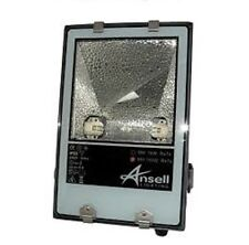 250w Metal Halide Floodlight by Ansell Black HQI White Light  New with Lamp