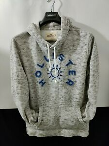 Hollister By Abercrombie & Fitch Men's Medium Gray Heathered Hoodie