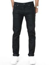 Nudie Herren Slim Fit Jeans | Grim Tim Org. Black Ring | 12.7oz Raw Denim
