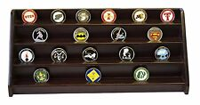 DECOMIL - 4 Rows Shelf Challenge Coin Holder Display Casino Chips Holder Cherry