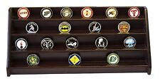 DECOMIL - 4 Rows Shelf Challenge Coin Holder Display Casino Chips Holder Cherry