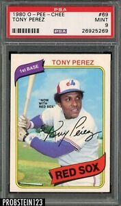 1980 O-Pee-Chee OPC #69 Tony Perez Boston Red Sox HOF PSA 9 MINT