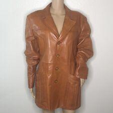 Vintage Wilson House Of Suede & Leather Cognac Light Brown Coat jacket Size 42